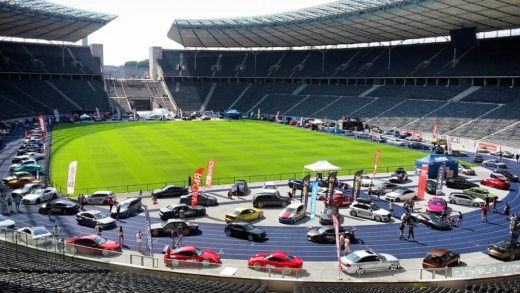 One of the biggest and / or best car meets in Germany. XScarnight at Olympiastadion in Berlin. That will be fun. Every displayed car is way over the top. Premium Mods all around