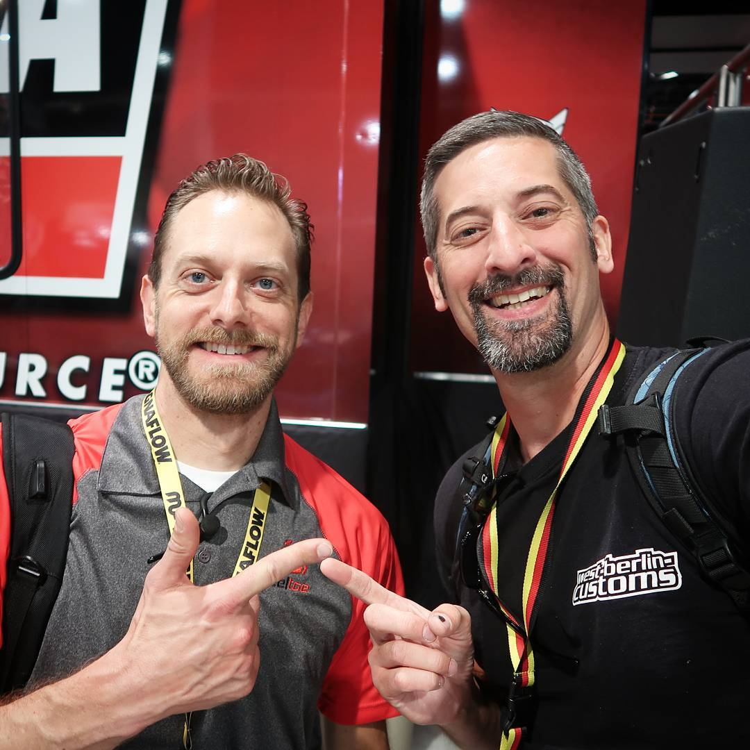 One year ago I met this friendly guy first time at SEMA Show. This is a 1200000 sqare foot area, but we met again and it's always nice to talk to him. His company @heeltoeautomotive is specialized in innovative HONDA parts. Check out his Instagram page
