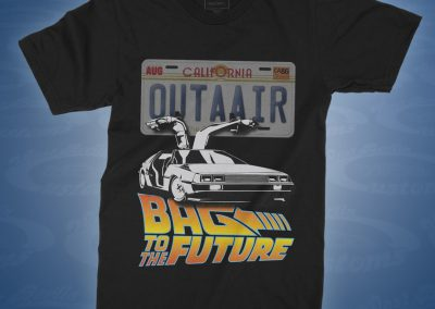 Bagged to the Future - DeLorean - Shirt front